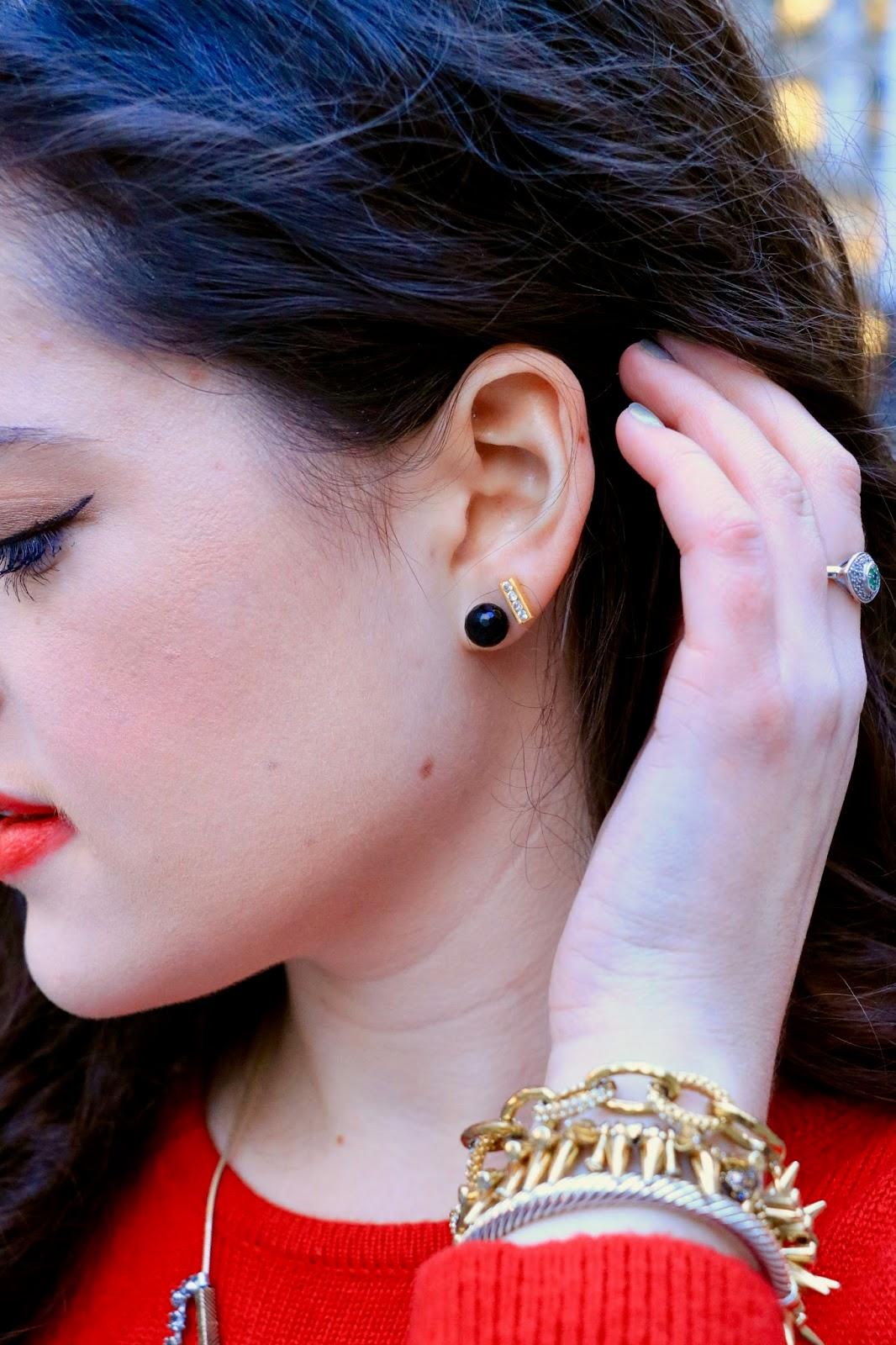 black onyx stud earrings pics