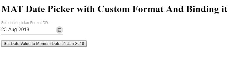 Angular Material Datepicker,Angular Material Datepicker Custom