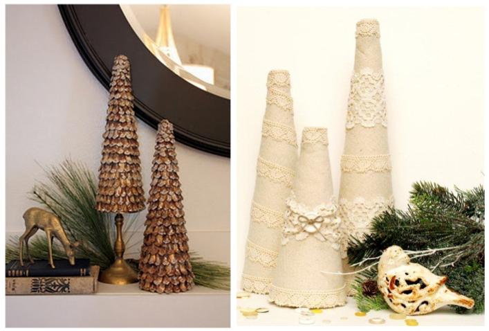 Home Confetti: DIY Tabletop Christmas Trees