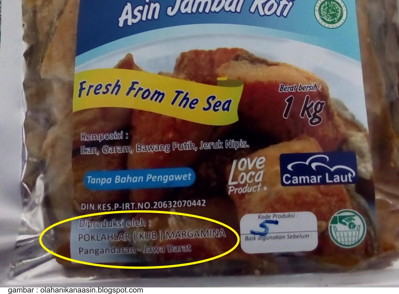 Label Dalam Kemasan Makanan Olahan Ikan Lalaukan