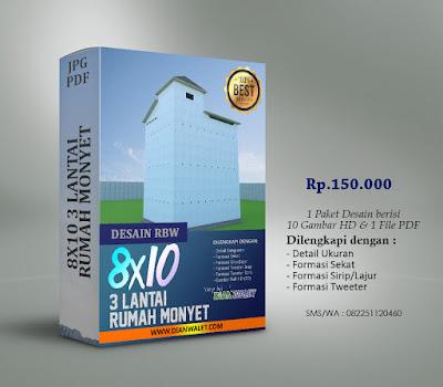 Desain Bangunan Walet 8x10 3 Lantai Premium