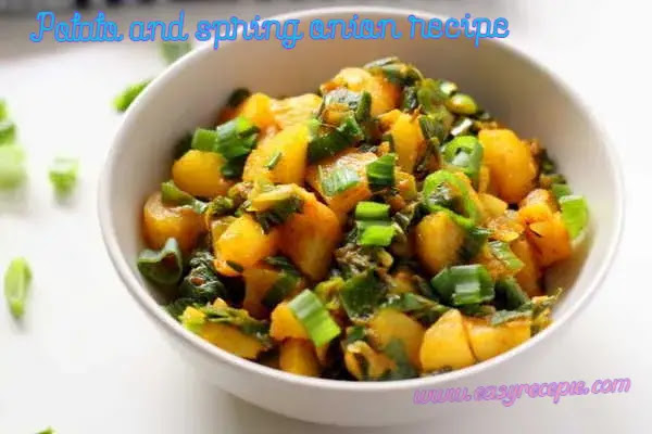 Potato and spring onion recipe easy to make at home