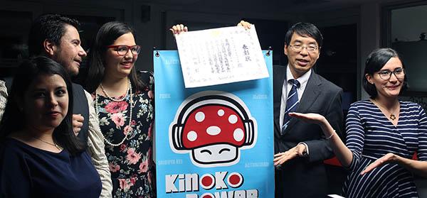 Reconocimiento a Kinoko Power por difundir cultura japonesa en México