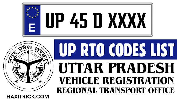 Uttar Pradesh UP RTO Codes List