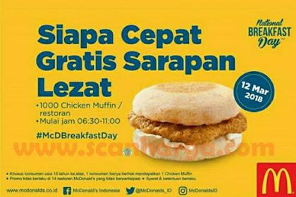 Promo McDonalds Terbaru Gratis 1000 Chicken Muffin Per Restoran Edisi 2018