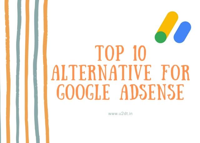 Top 10 alternative for Google AdSense.