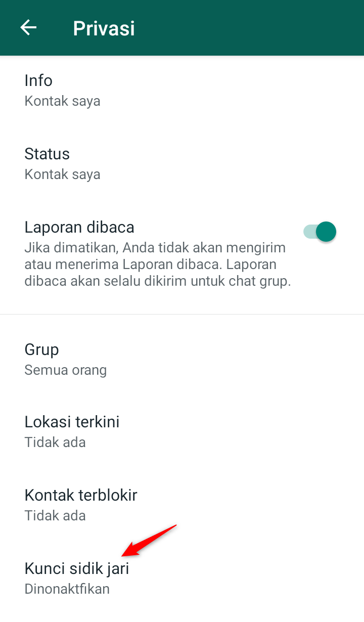 Cara Mengaktifkan Kunci Sidik Jari WhatsApp ~ Cari2-Cara