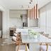Varanda gourmet marmorizada e amadeirada com mix de piso hexagonal e vinílico!