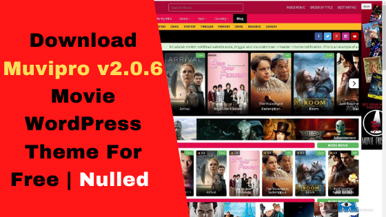 Download Muvipro v2.0.6 Movie WordPress Theme For Free | Nulled