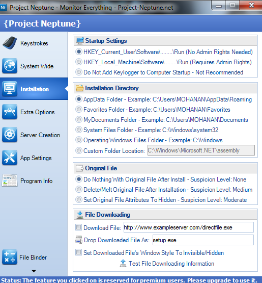World of Tricks: Latest Advanced Remote Keylogger-Project Neptune