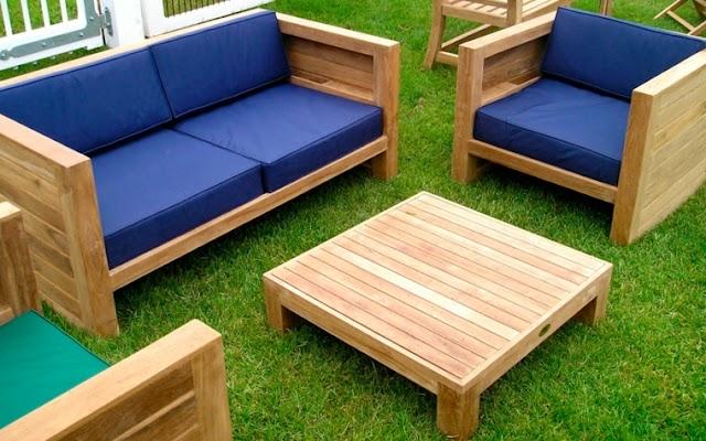 Guía para construir muebles de madera para exteriores