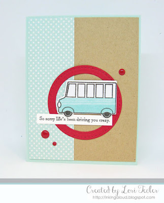 Driving You Crazy card-designed by Lori Tecler/Inking Aloud-stamps and dies from Papertrey Ink