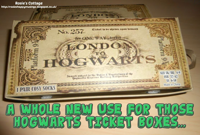 A whole new use for those Hogwarts ticket boxes...