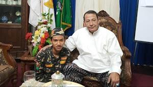 Tiba di Kediaman Habib Luthfi, Banser yang Nazar Jalan Kaki Tak Bisa Tahan Air Mata