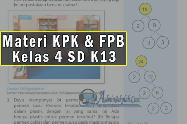 Materi dan Soal Latihan KPK dan FPB Kelas 4 SD Semester 1 Kurikulum 2013