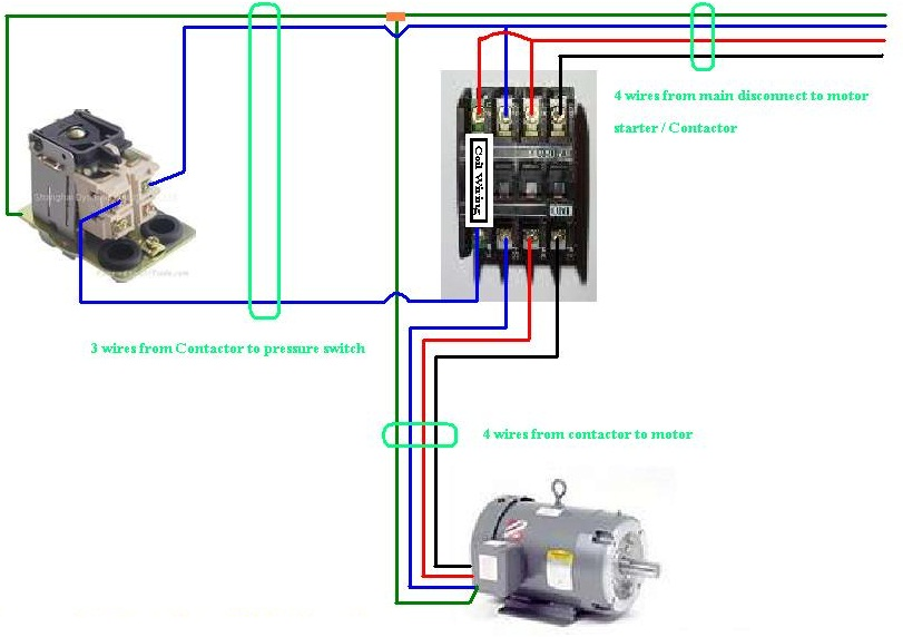 Three Phase Contactor Wiring Diagram Non Stop Engineering