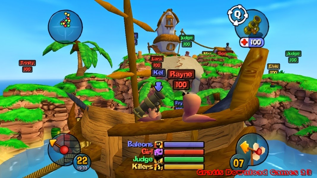 Game Worms 3D for PC Full Version