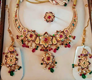 Flowers Design Necklace Set For women | Fdbnj