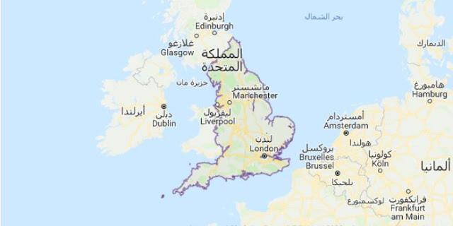 خريطة انجلترا England Map