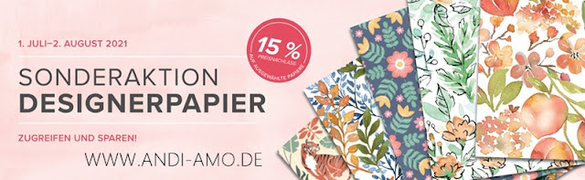 Stampin Up Sonderaktion Designerpapier 15 %
