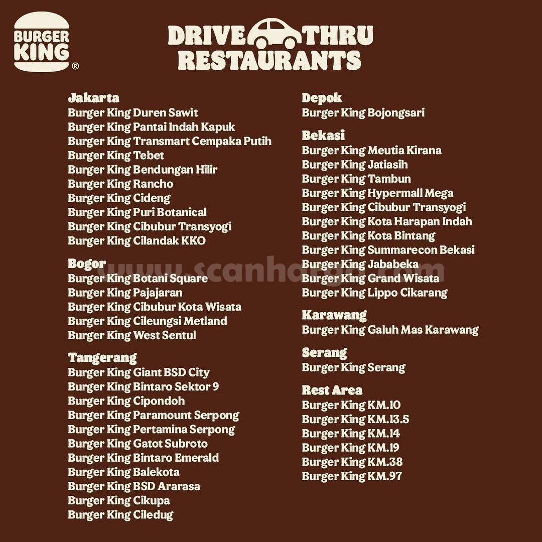 Promo Burger King s.d 30 September 2021 - Diskon 20% Semua Menu 3