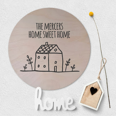 Large Personalised Wooden Circle Plaques - range of designs available