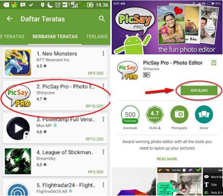 Download Picsay Pro Tanpa Bayar