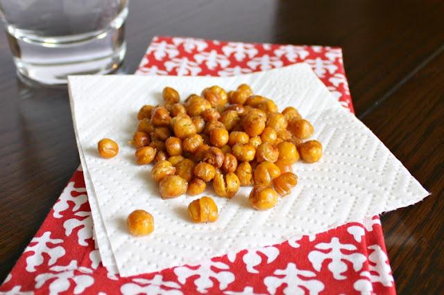 crunchy garam masala chickpeas