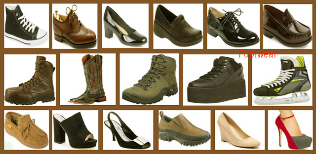 footwear, shoes names, name of shoes, shoes