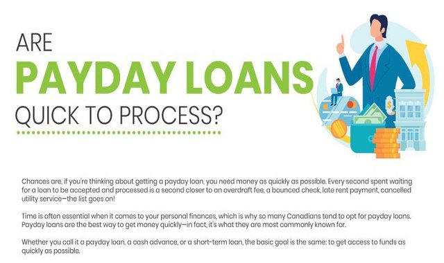 Are payday loans quick to process?