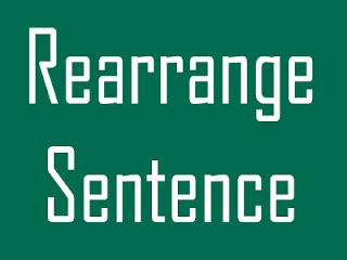 Rearange sentence