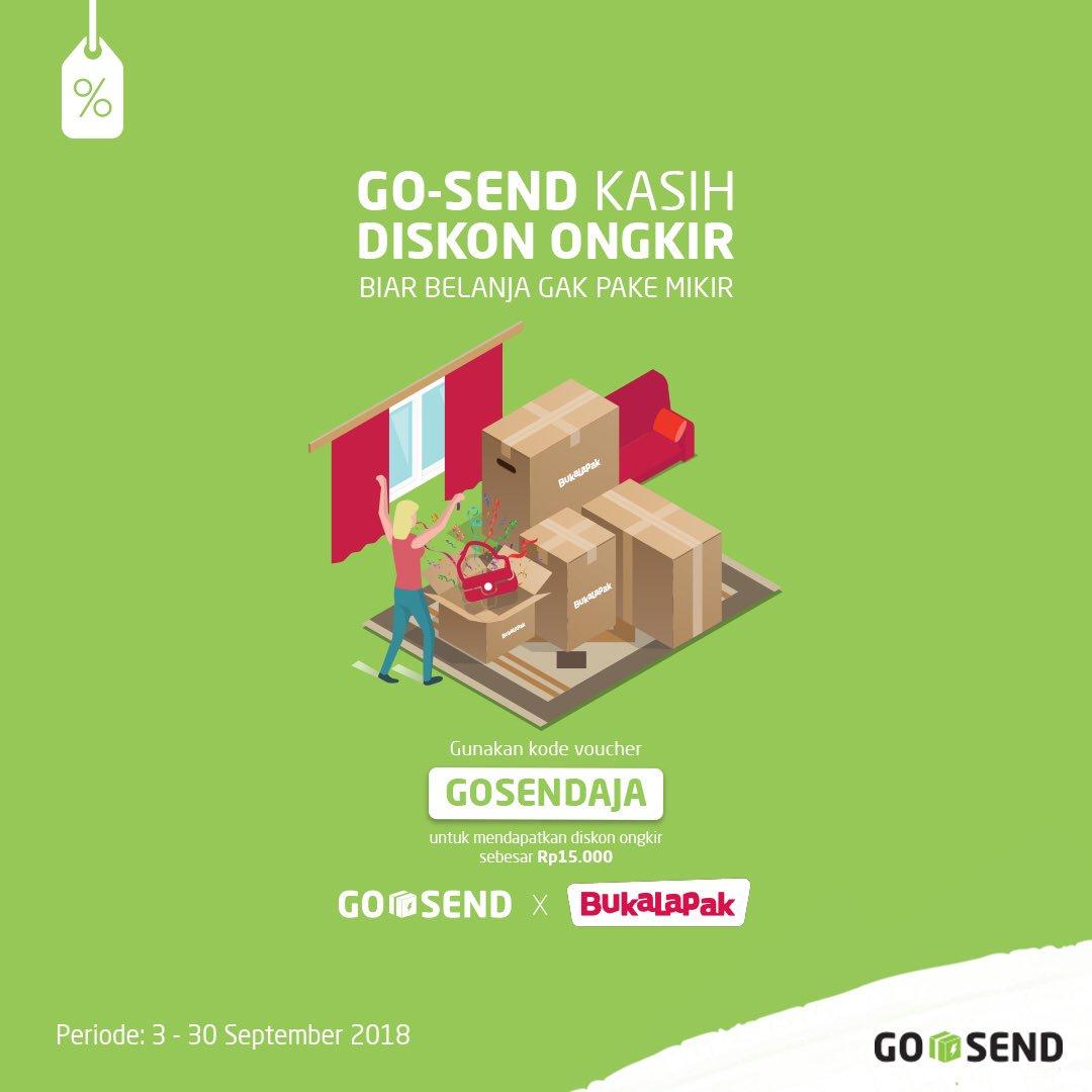 Gojek - Promo Voucher Diskon Ongkir 15 Ribu Belanja di Bukalapak