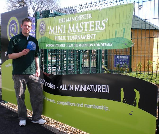 The 'Mini Masters' minigolf tournament in Manchester