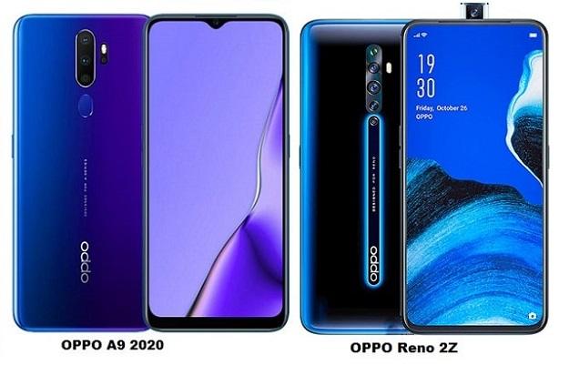 OPPO A9 2020 Vs OPPO Reno 2Z Specs Comparison
