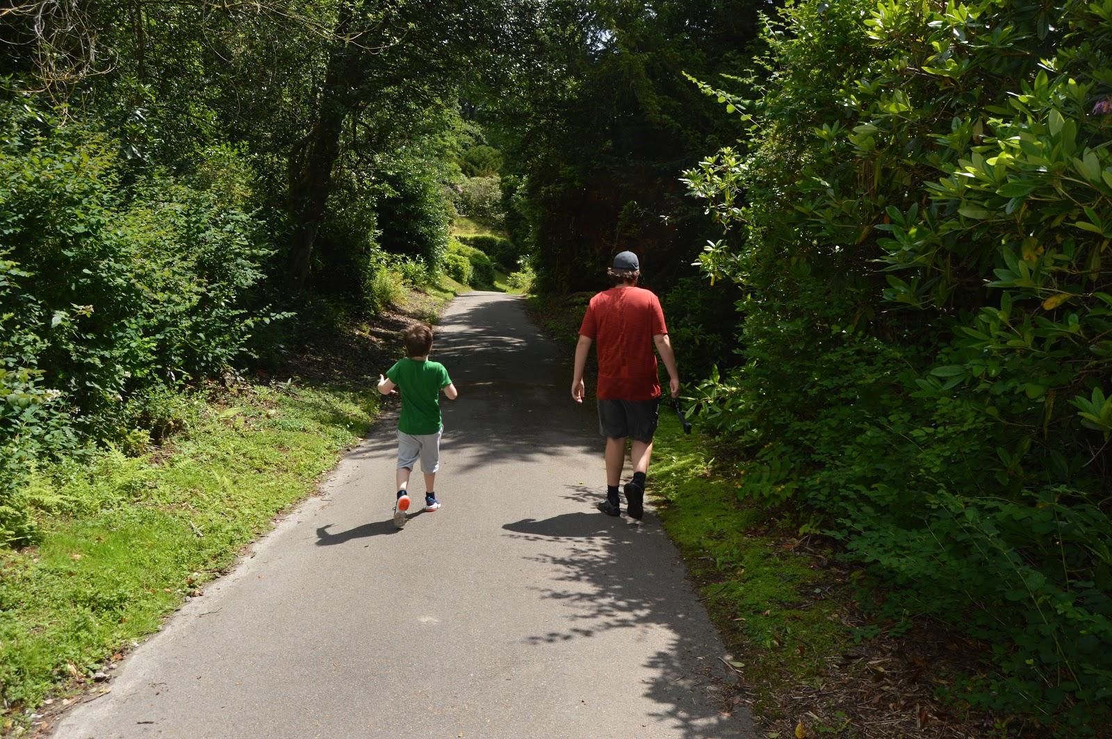 walking along a path