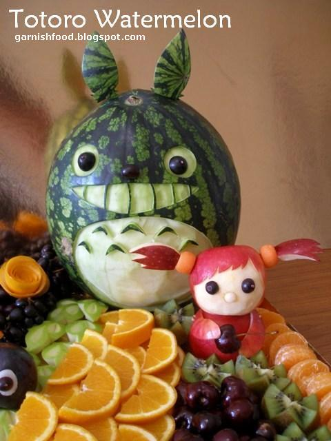 totoro fruit display for kids