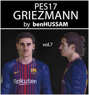 PES 2017 Faces Antoine Griezmann by BenHussam
