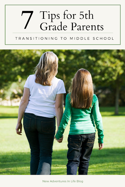 Tips for Parents transitioning to middle school