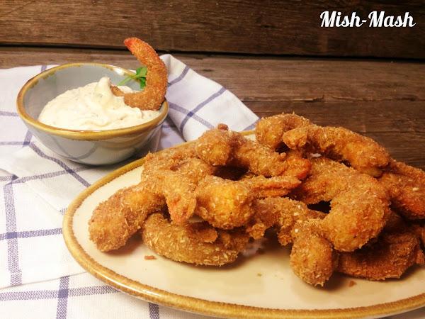 Кокосови скариди с пикантен сос