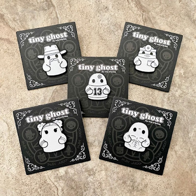 San Diego Comic-Con 2020 Exclusive Tiny Ghost Enamel Pin Set by Reis O'Brien x Bimtoy x Fugitive Toys