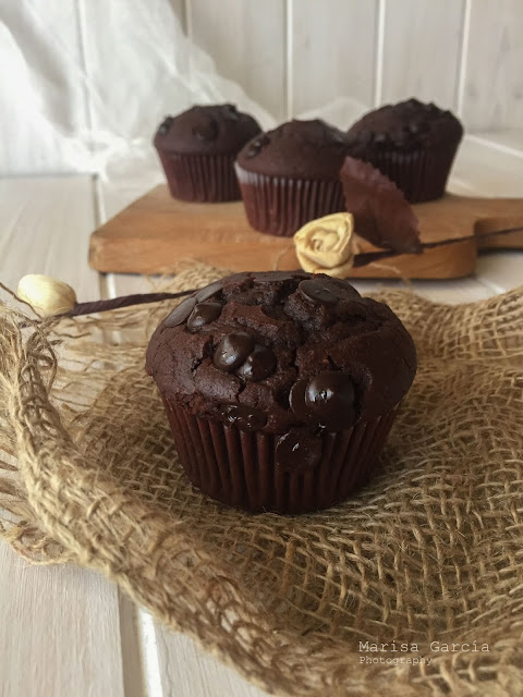 Muffins Integrales de Chocolate Estilo Starbucks