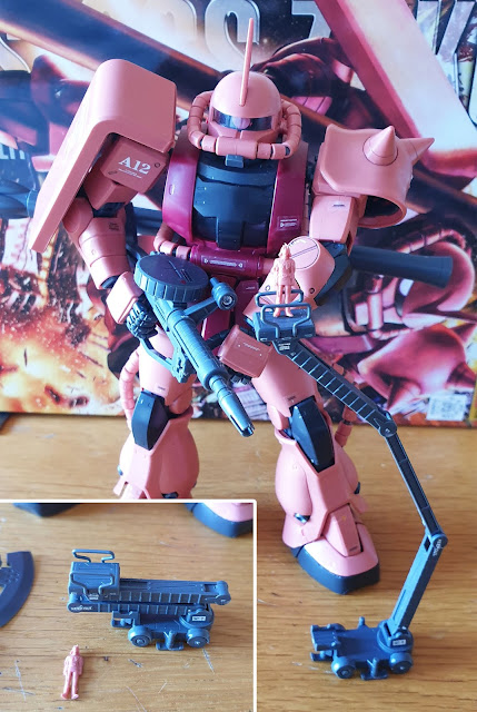 Gunpla Master Grade MS-06S Zaku II Char Aznable Custom recensione