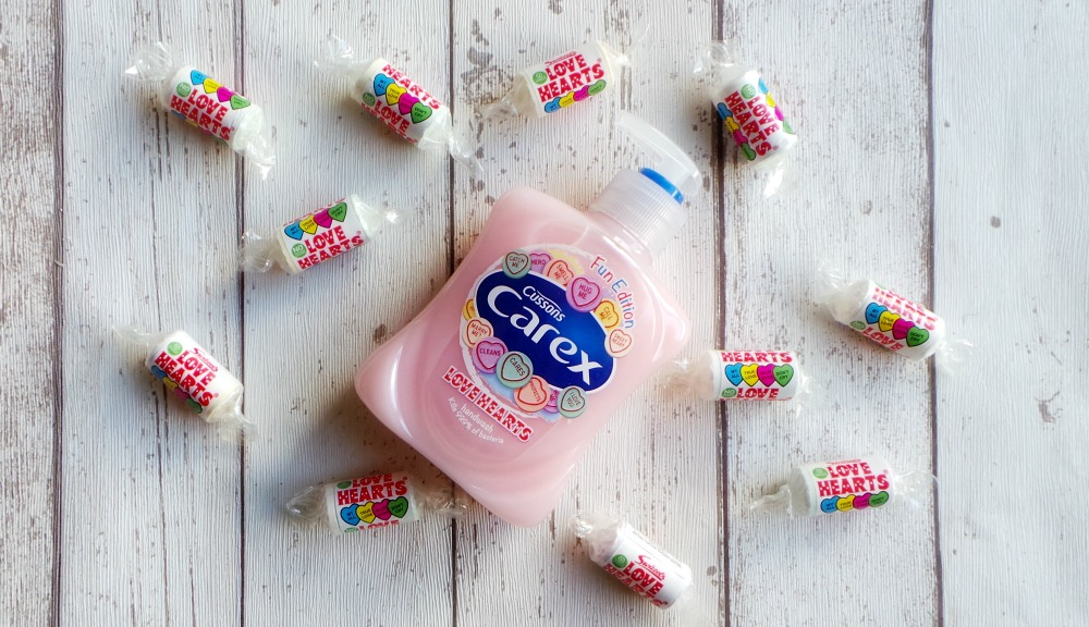 Carex love hearts soap