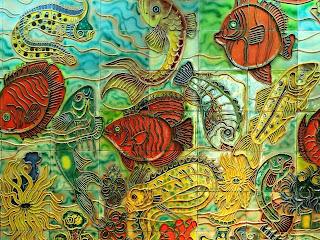 Mosaicos de Peixes, Acuario Municipal, Cidade de Mendoza