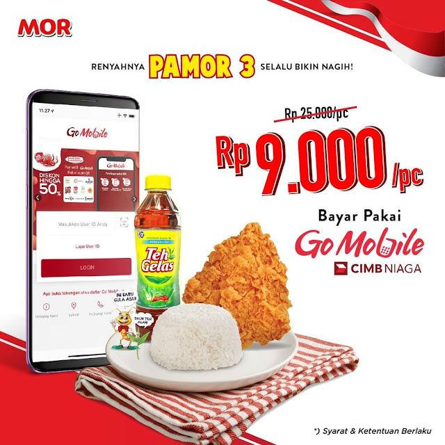 #MOR - #Promo Diskon PAMOR 3 Hanya 9K Pakai GoMObile CIMB (s.d 30 Sept 2019)