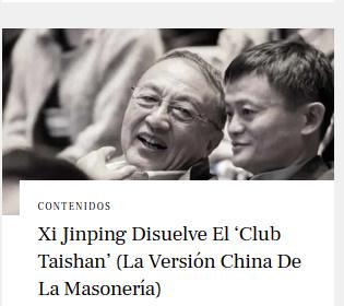 Xi Jinping disuelve el 'Club Taishan' (la versión china de la masonería)