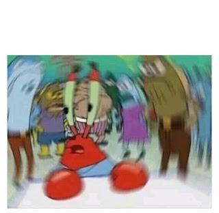 meme spongebob tuan crab kebingungan