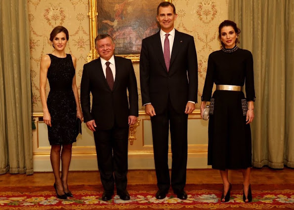 King Felipe And Queen Letizia Host A Dinner For The Jordan Royals