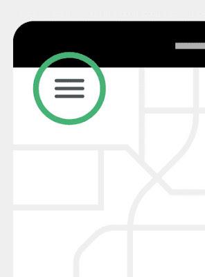 Open the menu in your Uber app