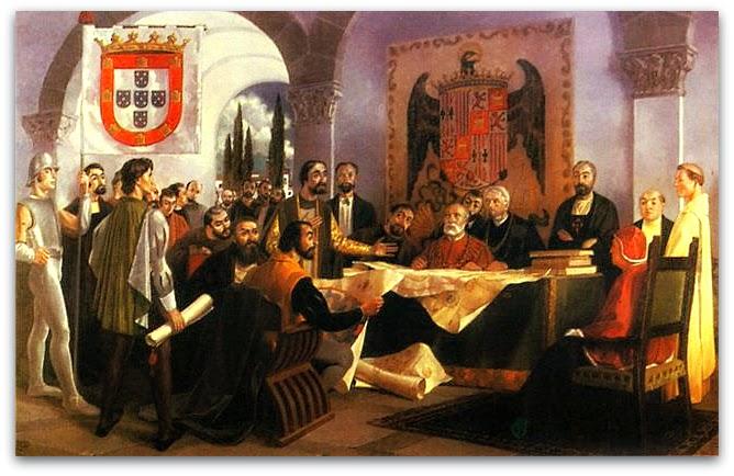 Assinatura do Tratado de Tordesilhas, 1494